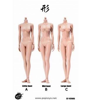 POPTOYS 1/6 92005 形係列 - 高可動包膠關節女素體回饋版 鋼骨架內構 小麥色 3款胸型 / XING Series  Super flexible female body Repay Version - Sun Tan/3 bust