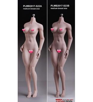TBLeague Seamless Muscular Female Body (middle)中胸女素體 PLMB2017-S22A Pale / 白膚色 & PLMB2017-S23B Suntan / 小麥色