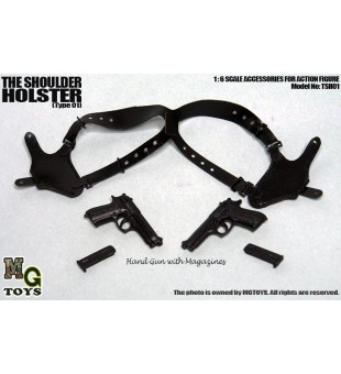 MGTOYS 1/6 The Shoulder Holster with M92F (Black) / 1比6胸鎗掛連M92F (黑色)