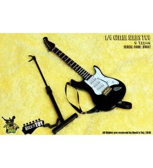 1/6 Western Instrument Electric Guitar Black White Color / 1比6 西方樂器 電吉他 黑白色