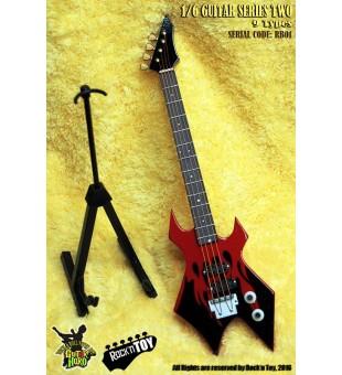1/6 Western Instrument Electric Guitar Black Red Color / 1比6 西方樂器 電吉他 黑紅色
