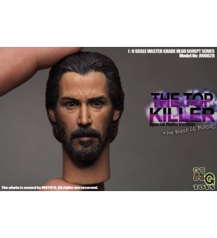 MGTOYS1/6 JW002R The Top Killer Head Sculpt / 1比6 JW002R 男性頭雕