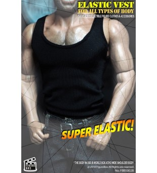 Elastic Vest (Black) / 彈力黑背心