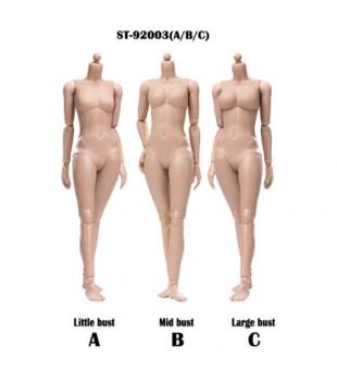 POPTOYS 1/6 92003 形係列 - 超級靈活的修改版 小麥色 3款胸型 / XING Series Super flexible Modified Version  female body Version - Sun Tan/3 bust