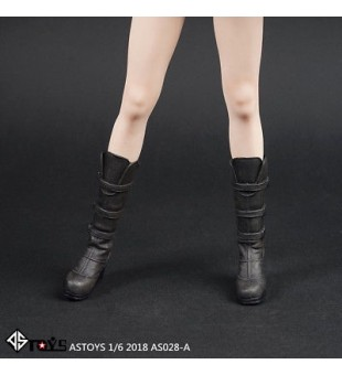 *ASTOYS 1/6 Black Long Boots High Heels Shoes / 黑色長靴高跟鞋AS028-A