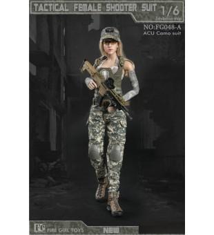 *Fire Girl Toys 1/6 Tactical Woman Shooter ACU Camo Suit / 戰術女槍手迷彩套裝 FG048A