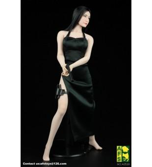 *AFS Toys 1/6 Black Killer Dress Suit / 女殺手黑色旗袍套裝 A003