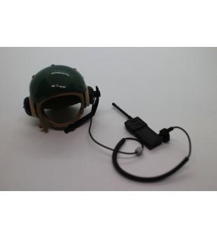 Army Helmet And Radio Head Set / 軍事頭盔及耳機套裝