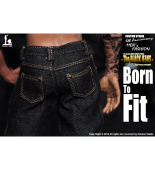 1/6 BORN TO FIT Black Jeans / 1比6 BORN TO FIT 直腳 黑色牛仔褲