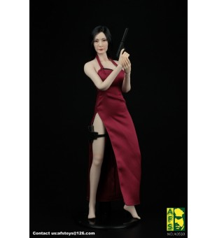 *AFS Toys 1/6 Red Killer Dress Suit / 女殺手紅色旗袍套裝 A003R