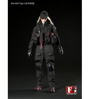 *Fire Girl Toys 1/6 Dark Female Gunner Suit / 暗夜女槍手套裝 FG038