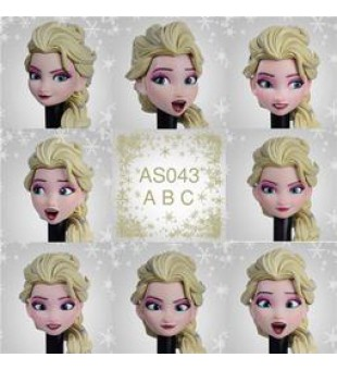 1/6 ASTOYS: Movable Eye  Queen Elsa Headsculpt / 可動眼頭雕 冰雪女王 愛莎 (AS043 A,B & C)