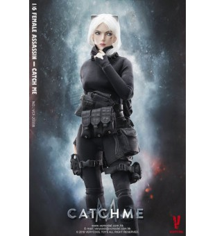 "1/6 VERYCOOL VCF-2033B Female Assassin Series 女刺客之""Catch Me"" 斜視刀疤頭雕"