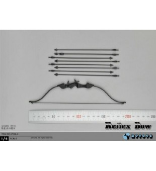 1/6 ZY TOYS 20CM Recurve Bow Model Reflex Bow ZY16-4 Weapon Toy / 1/6 ZY TOYS 20CM 反曲弓