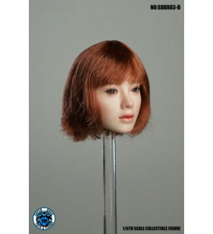 1:6 Super Duck SDDX03-D Female Headsculpt Eye-Moving Head (Brown Short Hair) / 移動眼 女人頭 (棕色短頭髮)